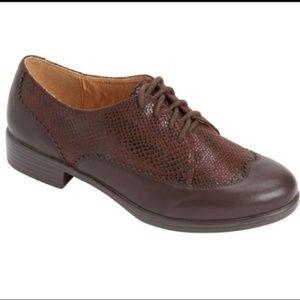 Comfortview Brown Reagan Oxford Shoe Sz: 8.5W NEW
